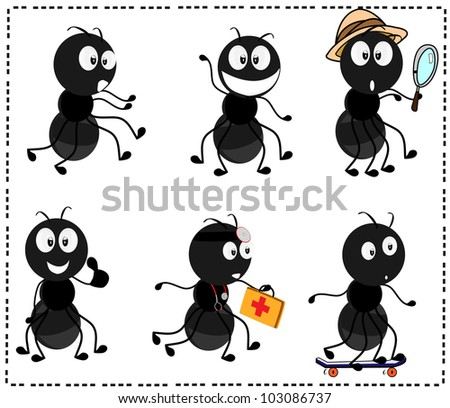 a collection of various cartoon characters ants