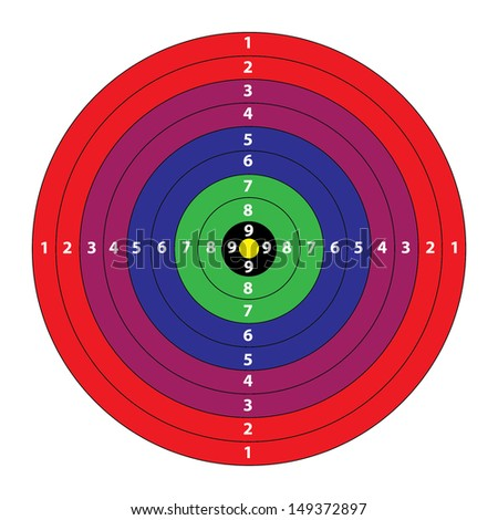 A Coloured Target. Vector
