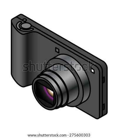 A compact ultra slim digital camera.