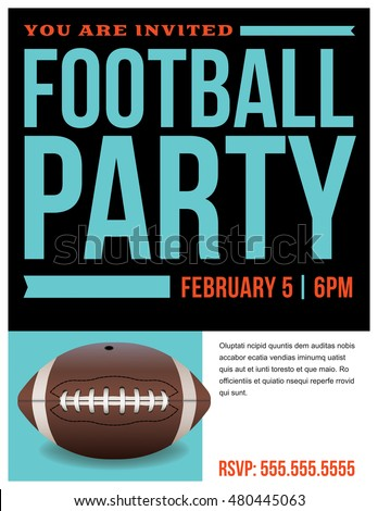 flyer american football party invitation template stock illustration 480489397 shutterstock. Black Bedroom Furniture Sets. Home Design Ideas