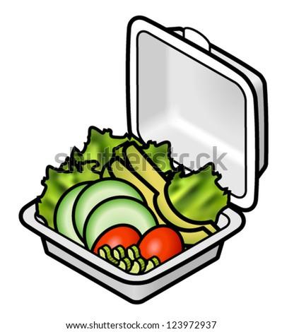 Opened Vintage Fridge Full Food Cartoon Stock Vector ...