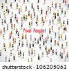 a large group of people meeting together vector icon design - stock photo