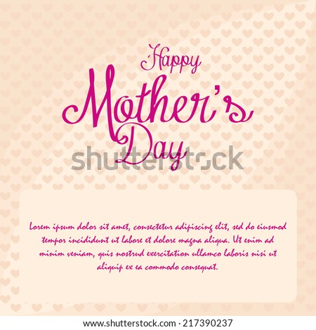 a light yellow background with pink text for mother's day