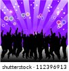 A lot o silhouettes people celebrating. - stock vector