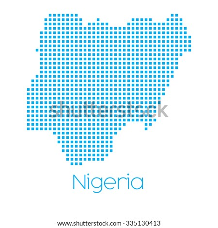 A Map of the country of Nigeria