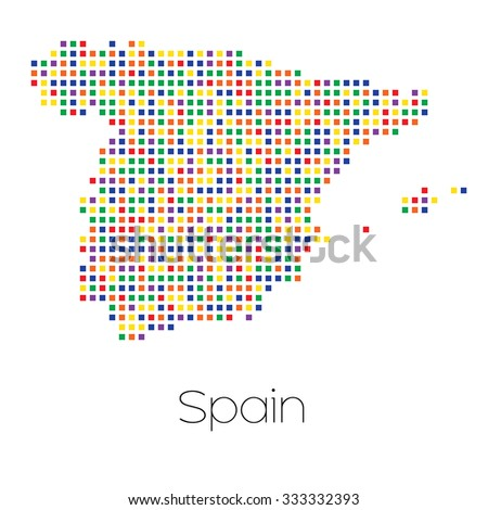 A Map of the country of Spain