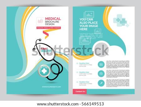 Medical Brochure Flyer Design Template A4 Stock Vector 638181568 ...