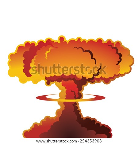 A nuclear weapon exploding, forming a mushroom cloud.