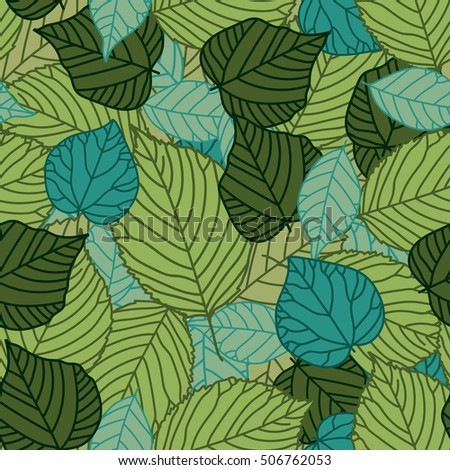A seamless pattern with leaf autumn summer leaf background