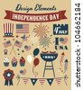 A set of design elements for Independence Day. - stock vector