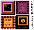 A set of four Halloween greeting cards. - stock vector