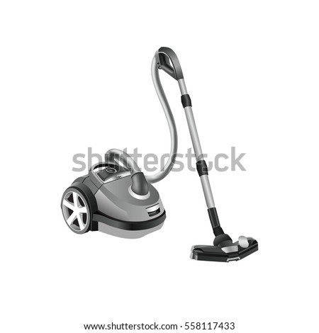 A set of illustrations - appliances vector icon. Element 6 vacuum cleaner.