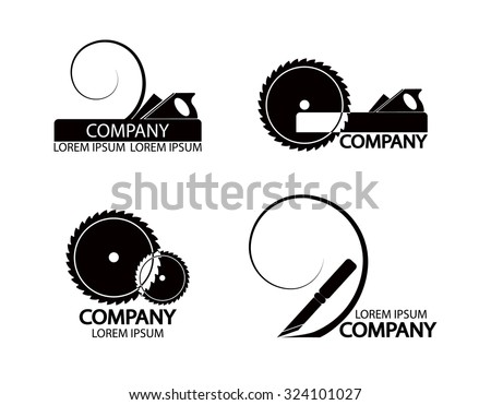 Set Logos Emblems Joiners Tools Good Stock Vector 324101027 ...