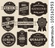 A set of vintage design labels and badges. - stock