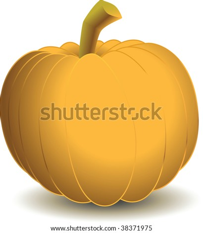 A vector clipart of a pumpkin. Available in AI8 EPS.