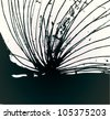 A vector illustration of an abstract black and white pattern drawing. - stock vector