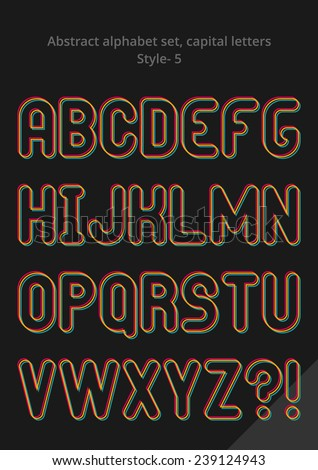 Abstract alphabet ( style 5 ), capital letters