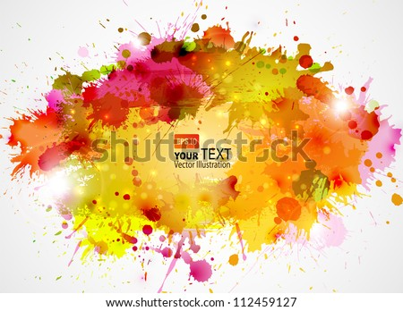 Abstract artistic Background of autumn colors