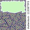 Abstract Aztec Maya Invitation Card. Vector Background - stock vector