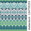 Abstract background based on Irish knitting. Mosaic scheme multicolored. - stock photo