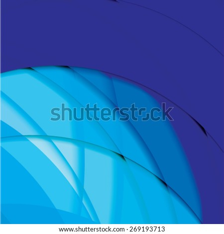 Abstract background created with colorful wavy stripes. Vector