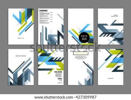 Brochure template layout cover design annual stock vector abstract background geometric shapes and frames for presentation annual reports flyers brochures sciox Choice Image