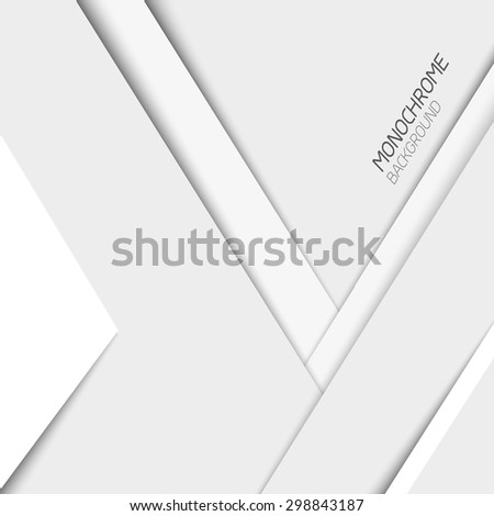 Abstract background. Gray shapes shadow overlap 3D dimension. Modern flat material background. Geometric vector template.