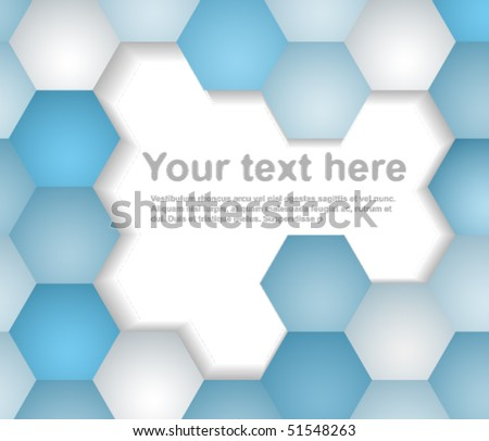 Abstract background made from blue hexagons
