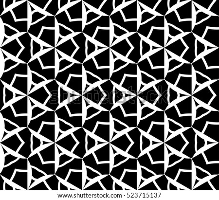 Picture black white elements y stock illustration for Modern patterns black and white