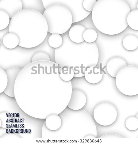 Abstract background with paper circle banners. Seamless background. Stock vector.
