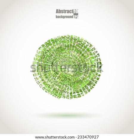 Abstract background with sphere. Eps10 Vector illustration