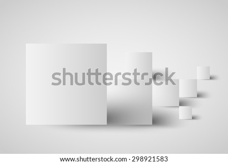 abstract background with square banners and shadows, design template