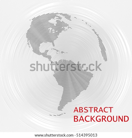 Abstract background with the silhouette of globe earth. Vector illustration.