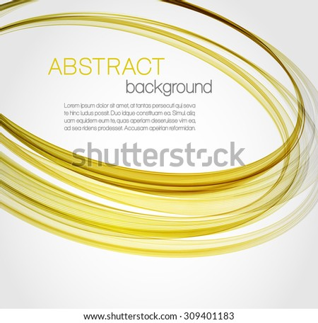 Abstract background with yellow, gold ellipses