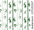 abstract bamboo seamless pattern on the white background vector - stock vector