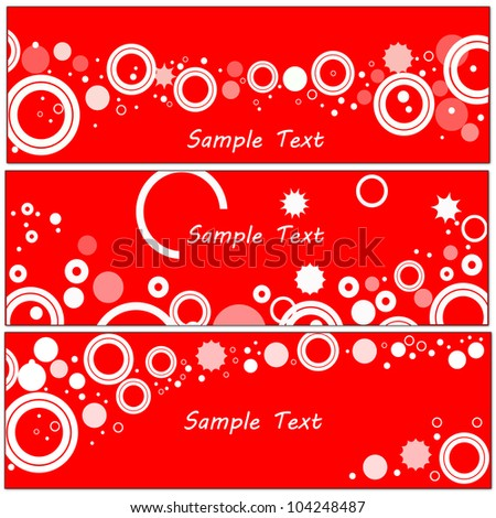 Abstract banner set. Vector