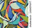abstract beautiful natural motifs seamless pattern - stock