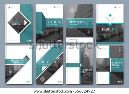 Abstract binder layout white a4 brochure stock vector for Brochure front cover design