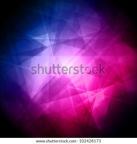 Abstract blue and pink background for design - vector illustration