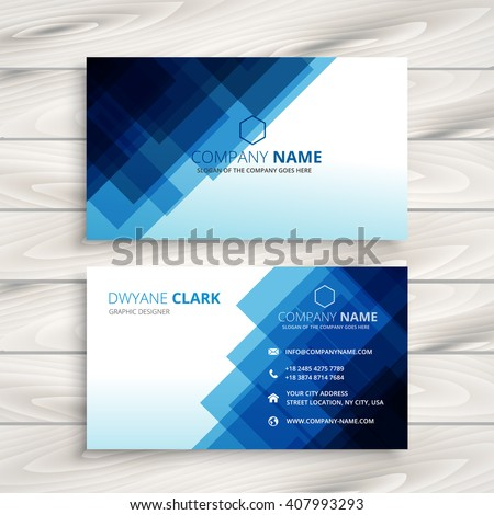 abstract blue business card template