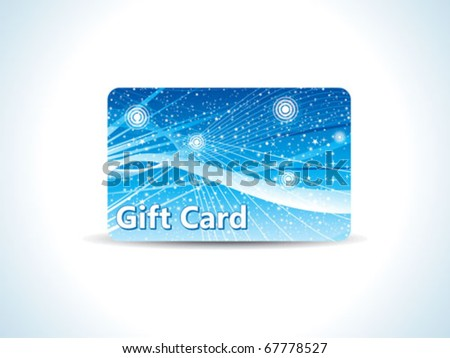 abstract blue gift card vector illustration