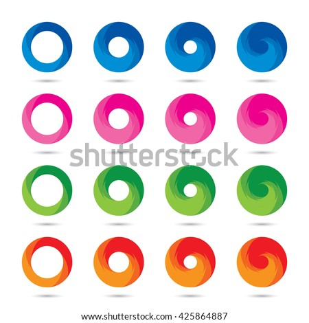 Abstract Circle logo icon vector set/ Infinity business icon