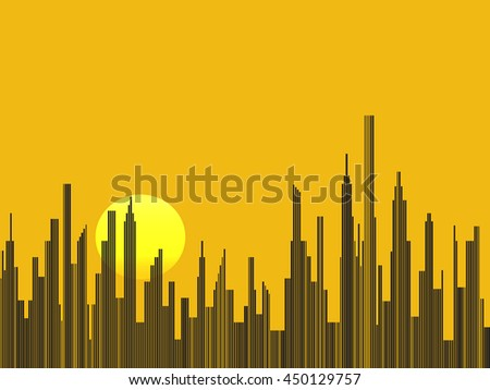 Abstract city silhouette vector background