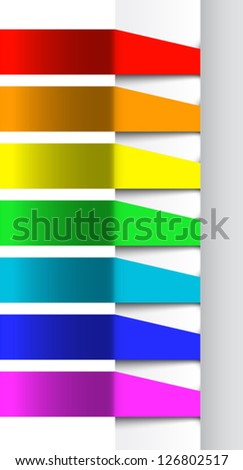 Abstract color banners template. Vector illustration