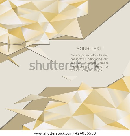 Abstract color geometric background with place for your text. Vector illustration