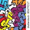 abstract colored graffiti pattern - stock photo