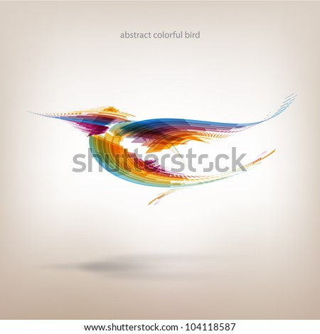 Abstract colorful bird