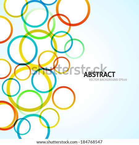 Abstract colorful circle background. Vector illustration. Rainbow colors