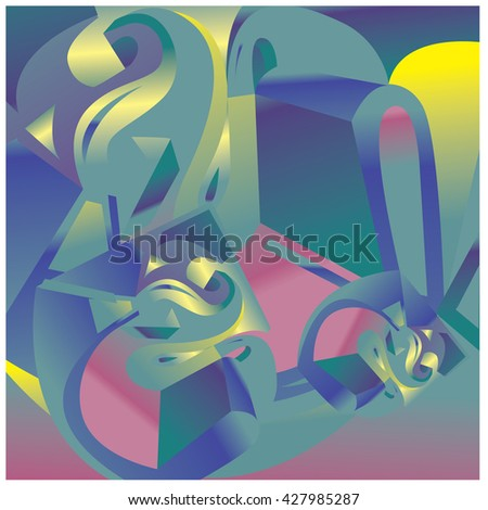 Abstract Colorful fractal background pattern illustration
