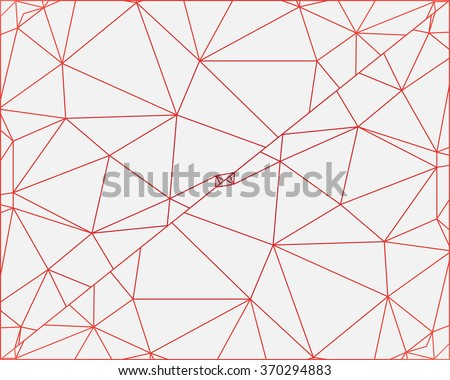 Abstract colorful outline of polygon vector background